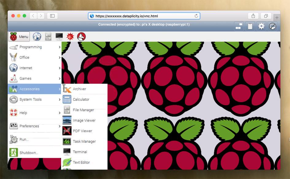 Remotely access Pi desktop
