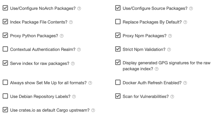 Miscellaneous Repository Settings