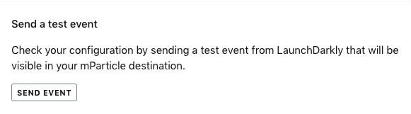 The Send a test event section.