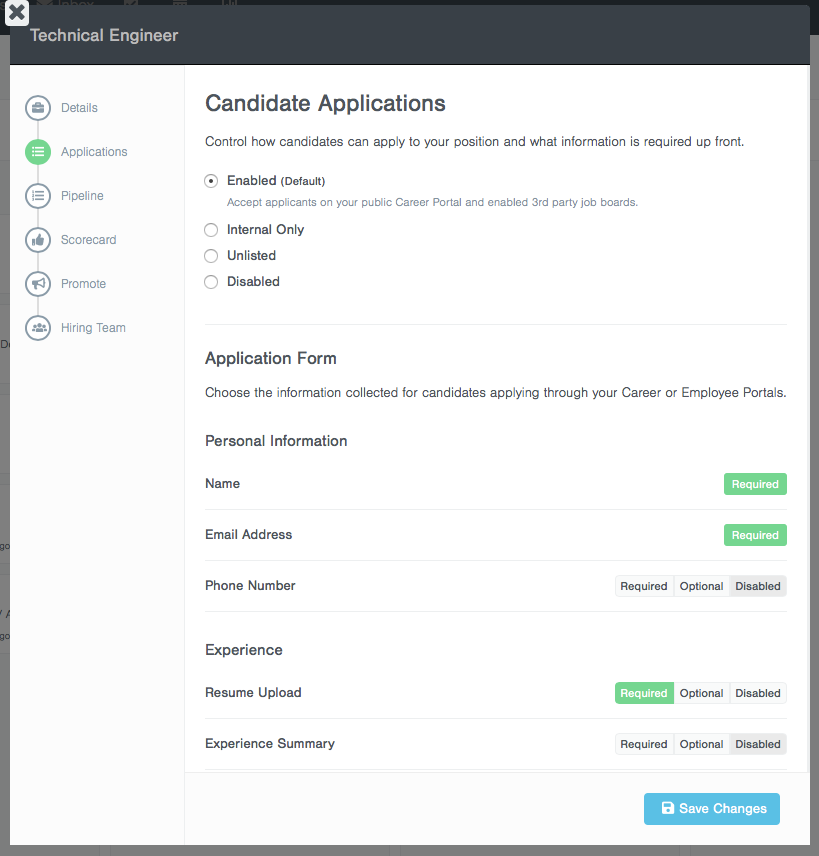 Customize your Application Form
