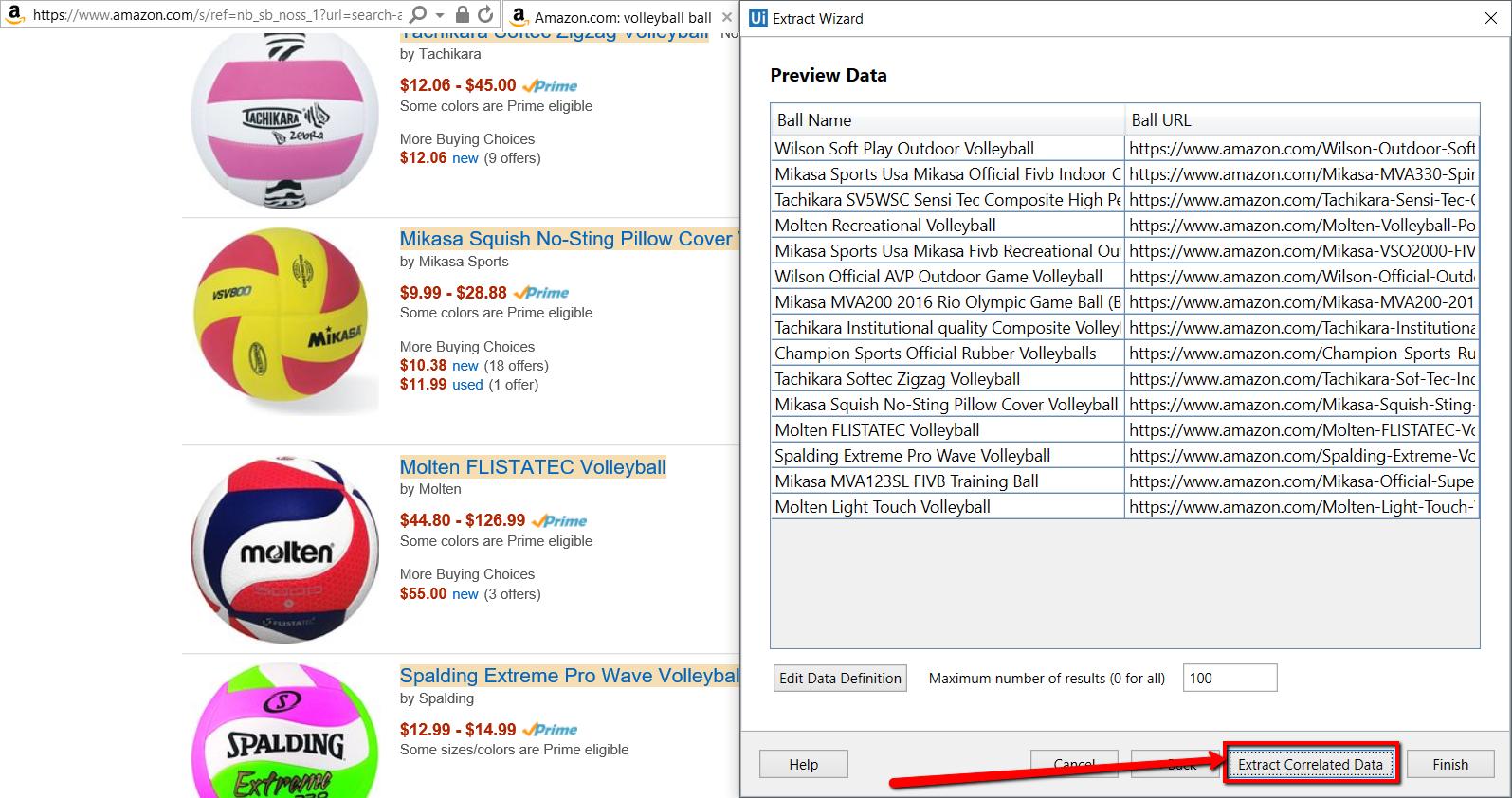 Example Of Using Data Scraping