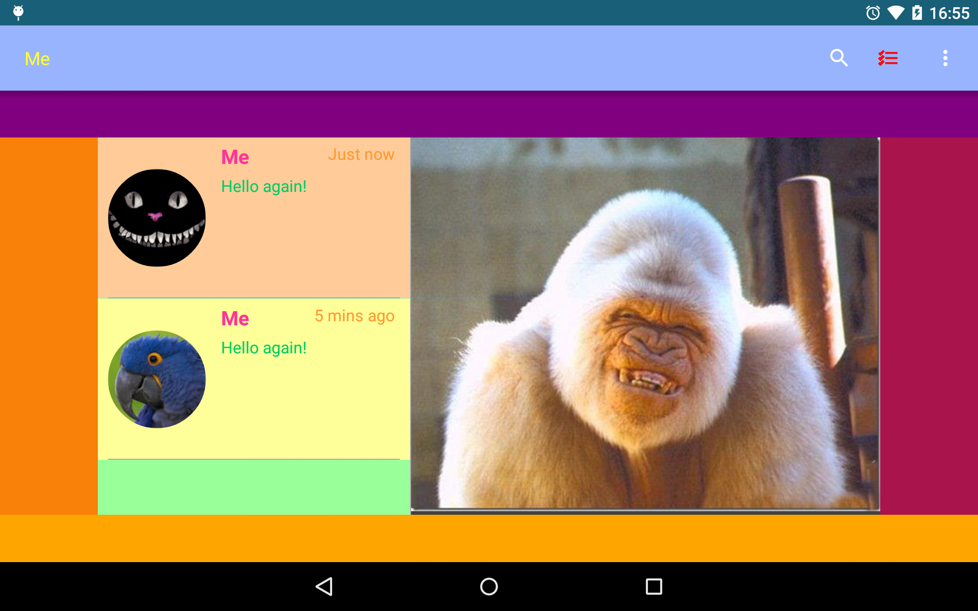 Customisation example for Android.