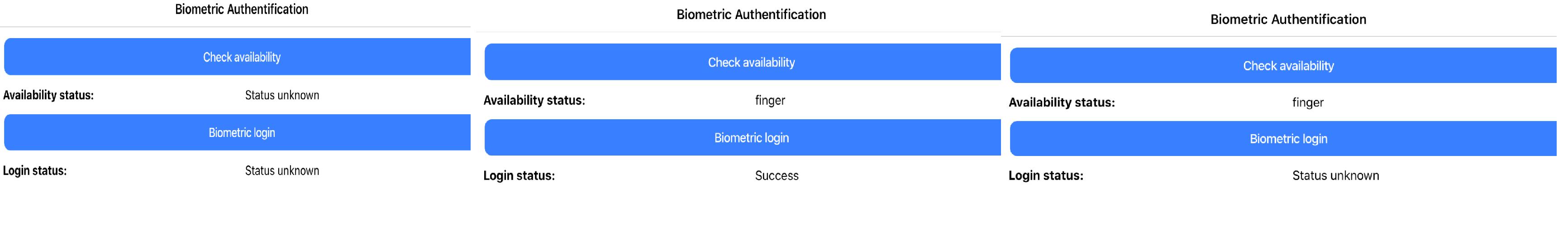 App work on iOS, Fingerprint authentication
