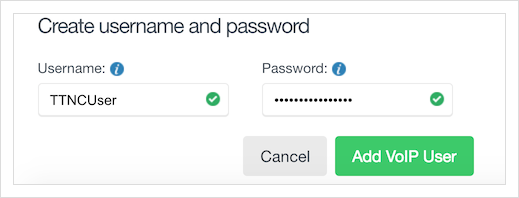 Generate a username and password