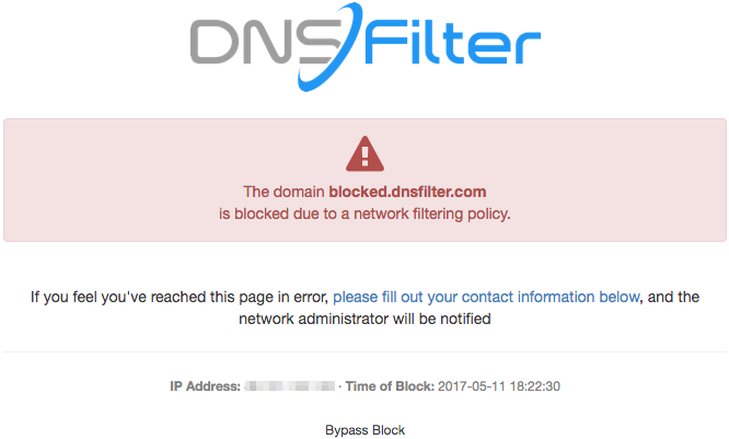 Image result for dnsfilter block page