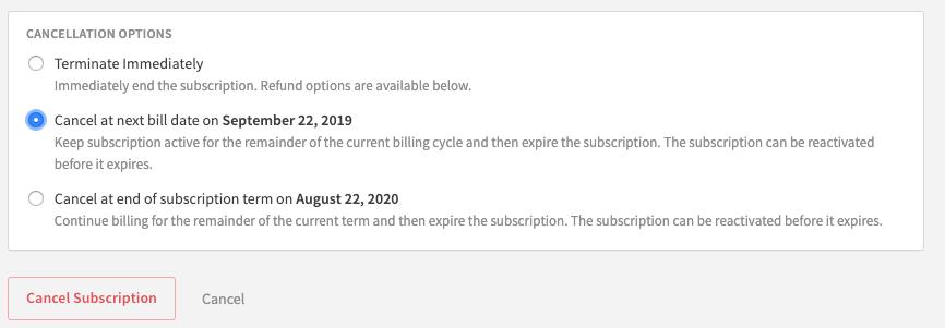 Expire Subscription