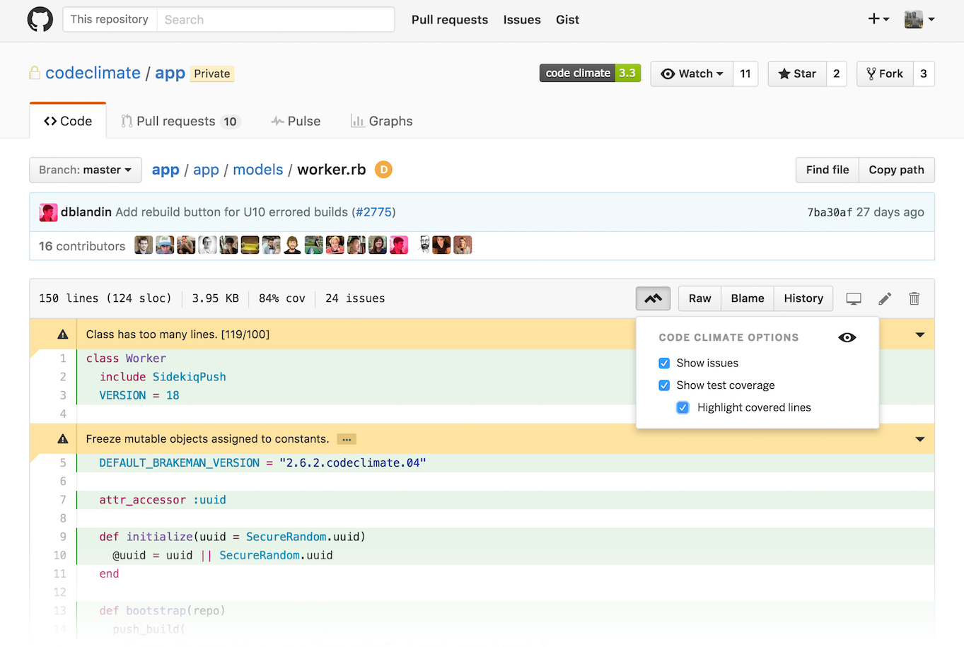 Adding Code Climate to Your Workflow