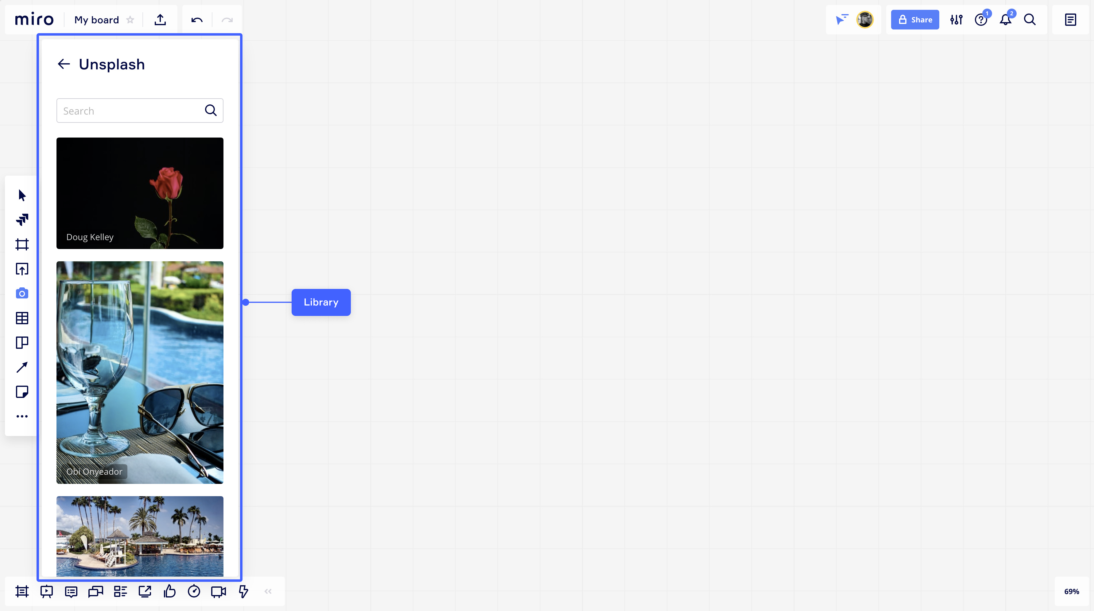 Example apps: Unsplash, IconFinder, AWS icon set
