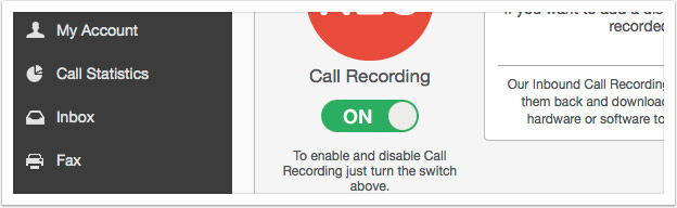 Turn on Call Recording
