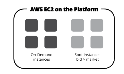 Types of AWS EC2 instances used on the Platform