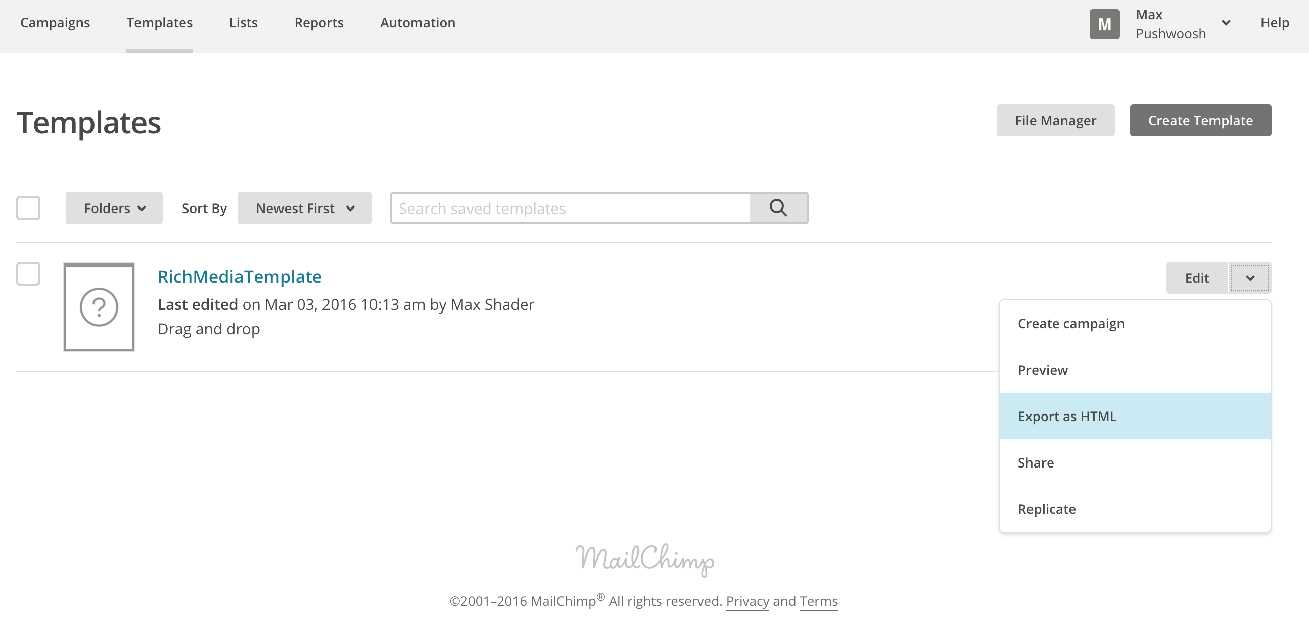 Easy Templates For Rich Media With Mailchimp - Drag and drop mailchimp templates