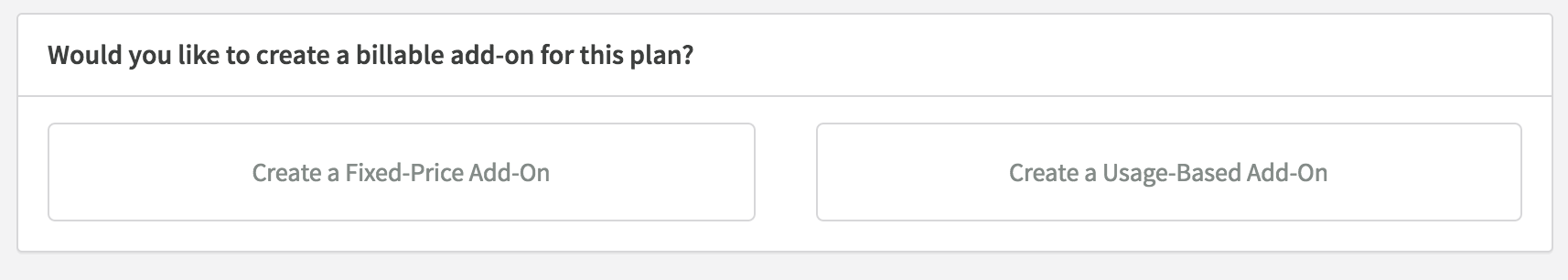 New Plan Page - Add-On Choices