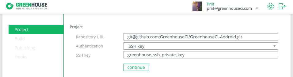 Adding a SSH key protected Git repository.