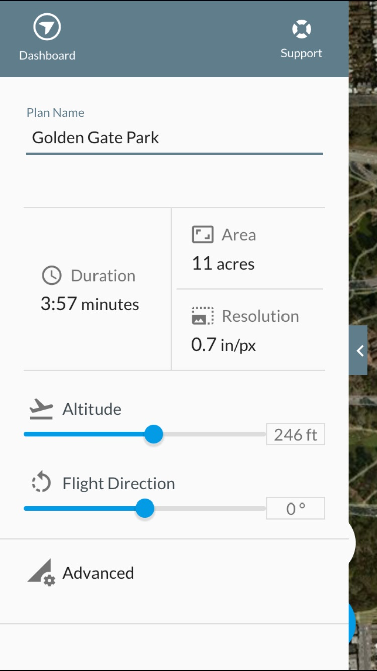 Flight Settings Options