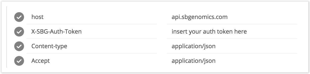 in the picture below youll see some of the headers for seven bridges api requests