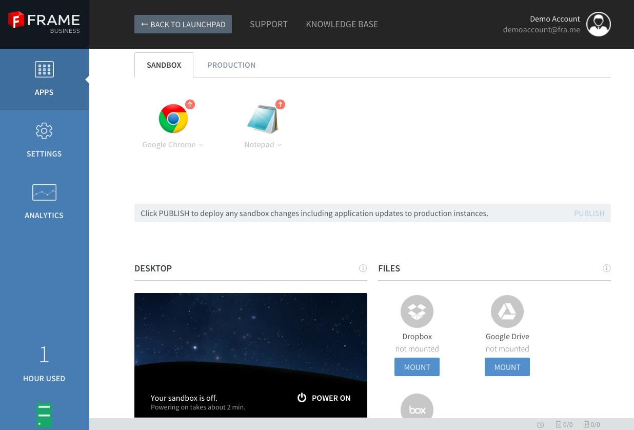 Onboard apps for your team · Frame Documentation