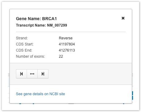 Gene Track Tooltip