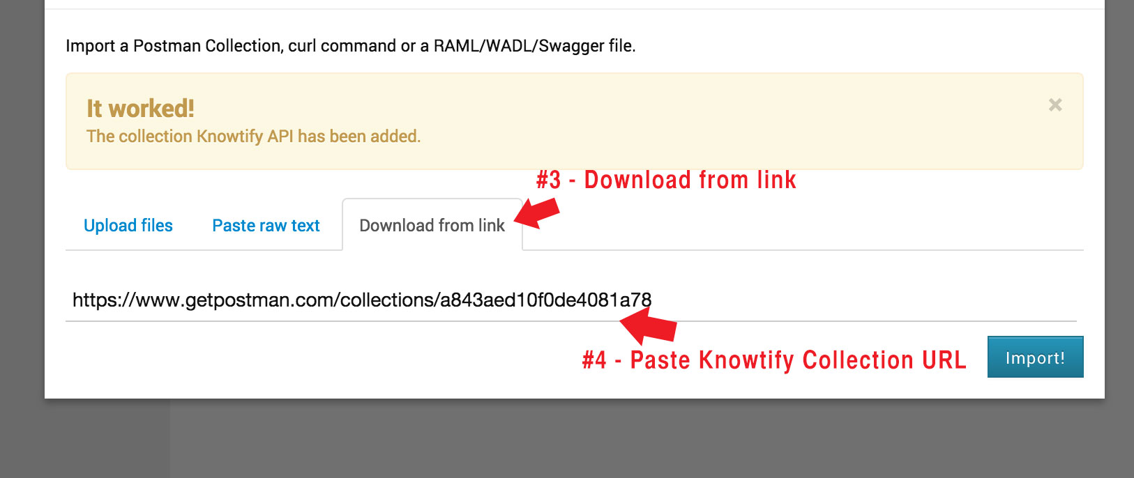 TESTING THE API - POSTMAN · Knowtify