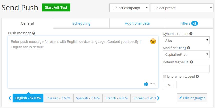 Figure 1. Choose your popular languages.