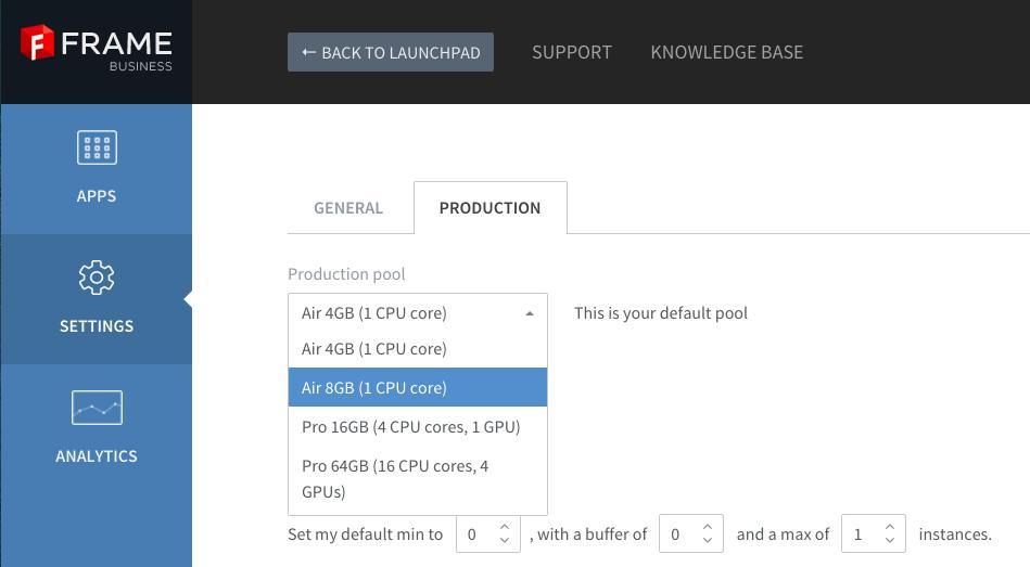 Setup system switching · Frame Documentation