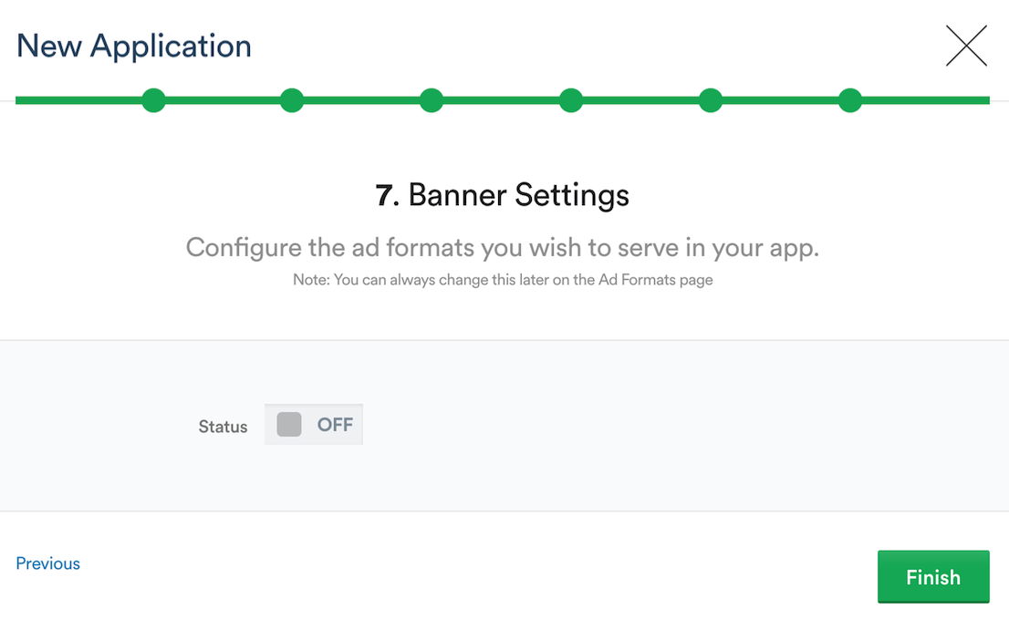 Setting up Banner Settings