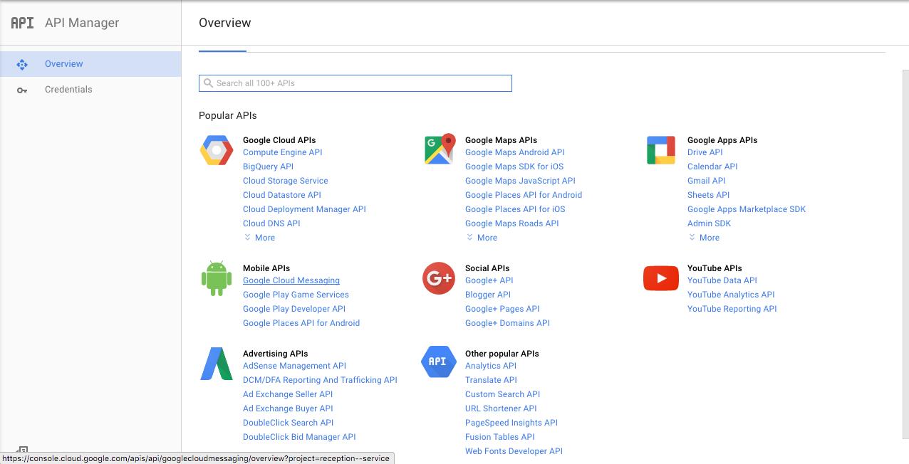 Google push configuration · Actor