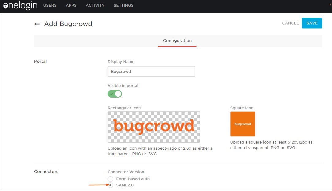 Configure the Bugcrowd app