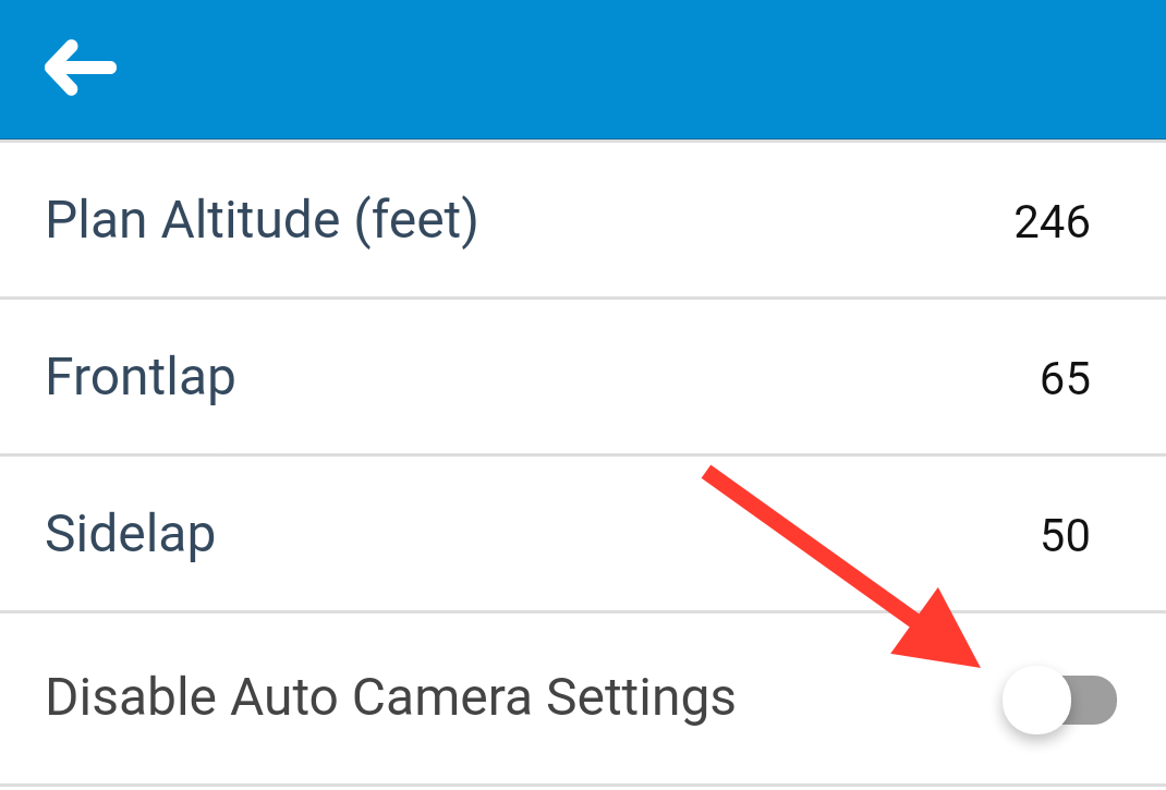 You can manually adjust the camera settings in the DJI GO app.