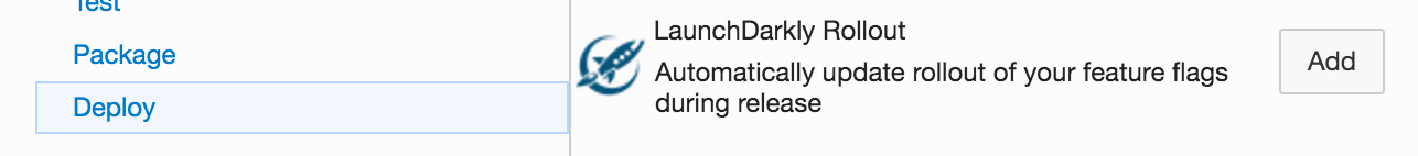 The LaunchDarkly Rollout task in Azure DevOps.