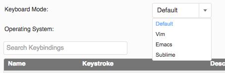 Customizing Keybindings · Cloud9