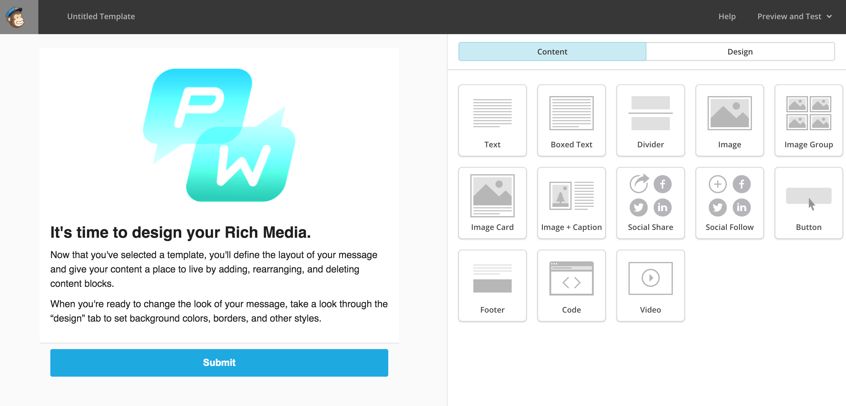 Easy Templates For Rich Media With Mailchimp - Using mailchimp templates