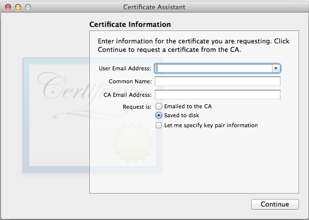 Generate an iOS Push Certificate