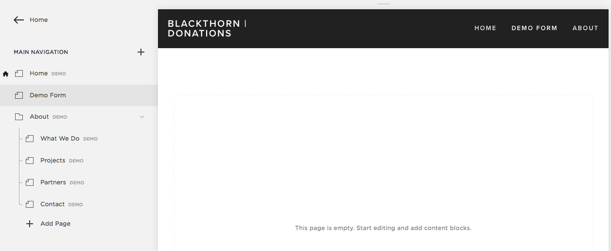 Blackthorn.io  Donation Form Example