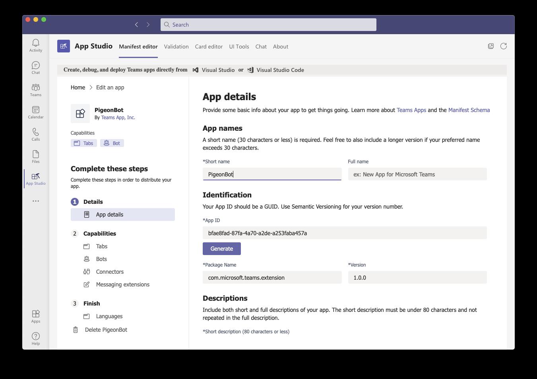App Studio Create App