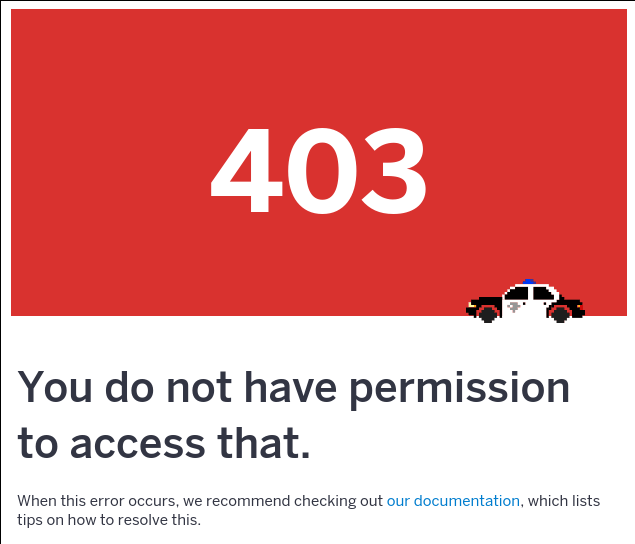 I'm seeing a 403 Permission error!