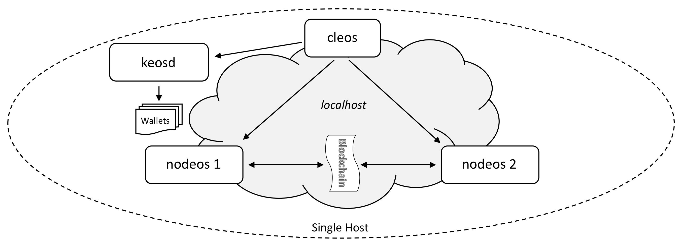 The single host multi-node testnet configuration.