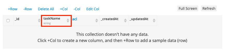 Create taskName column