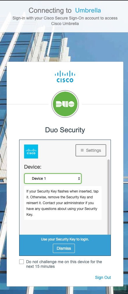 Enable Cisco Secure Sign-On