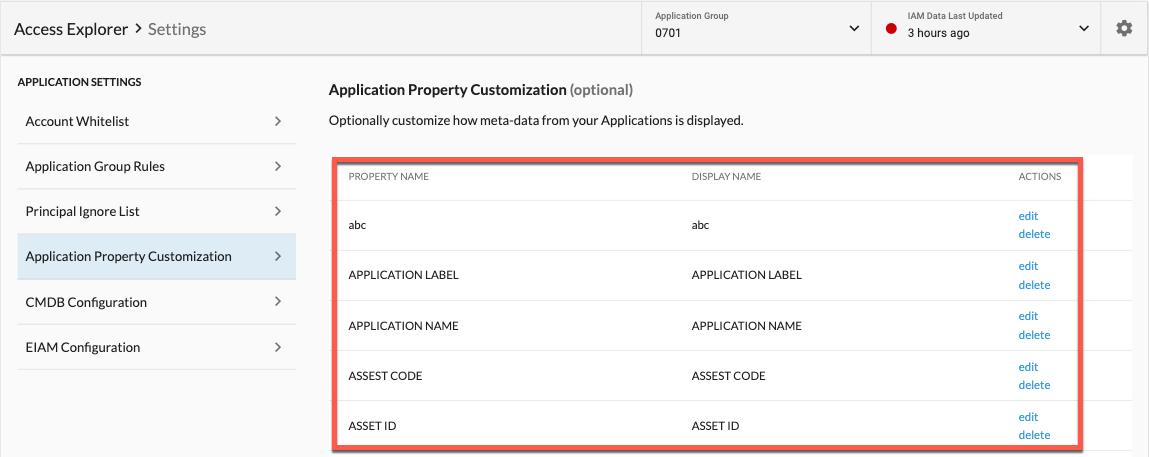 Application Property Customization