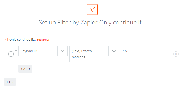 Using a filter in Zapier to only send notifications that match our criteria