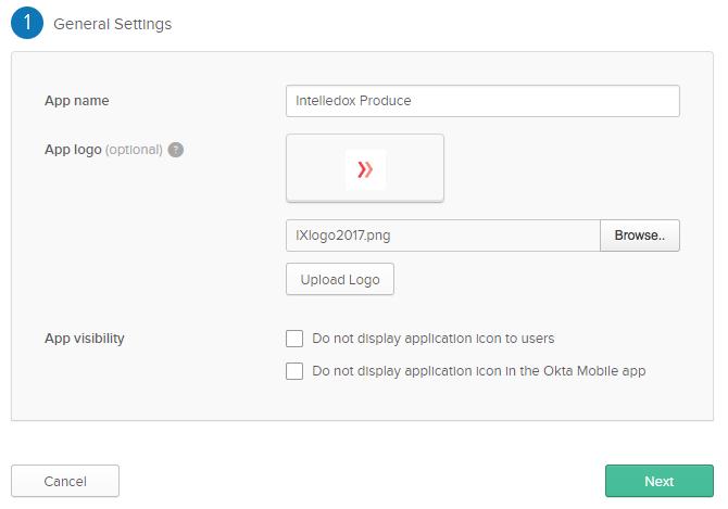 SAML Application in Okta