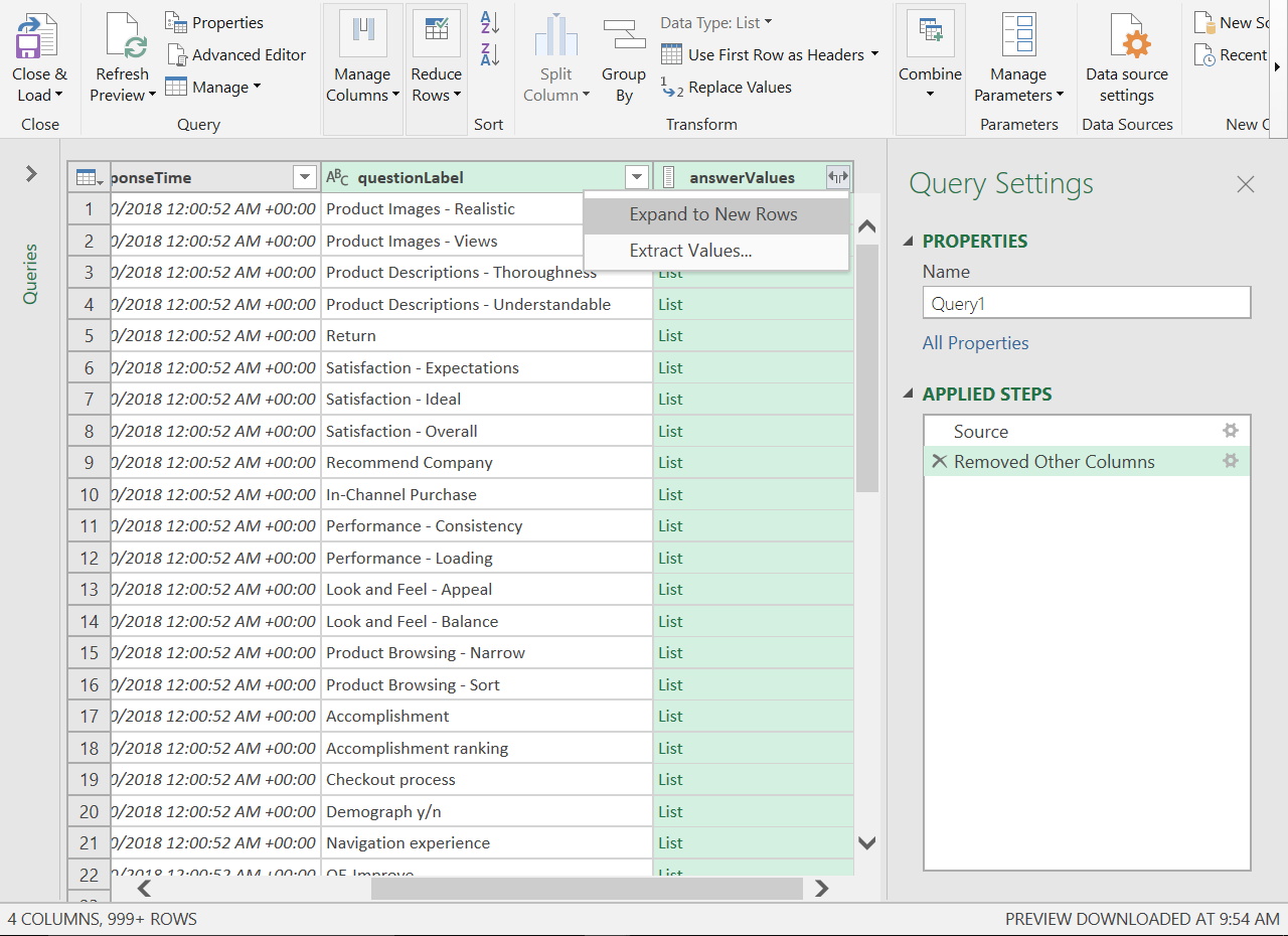 OData with MS Excel