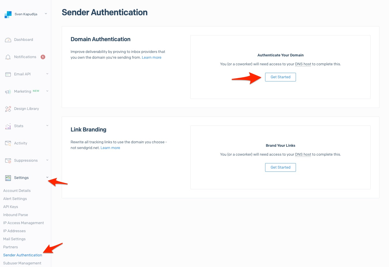 Getting Started with Sender Authentication