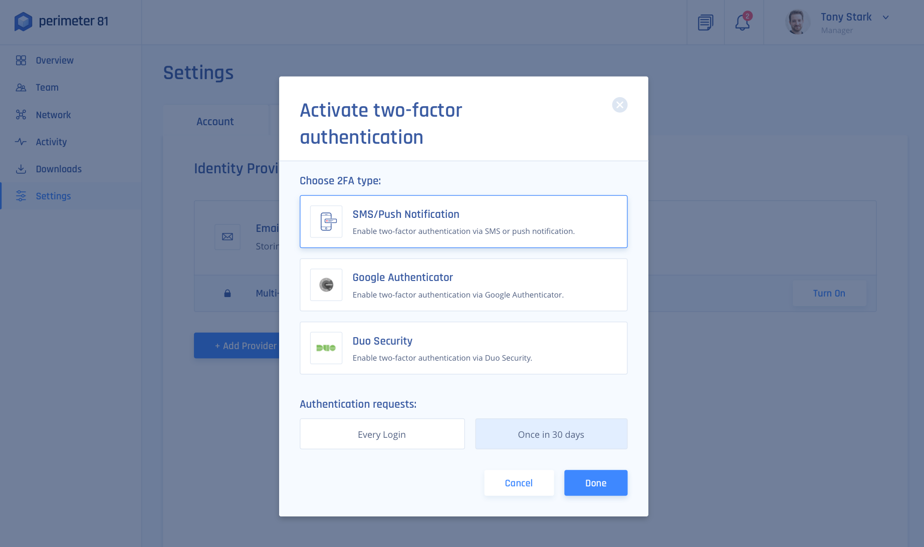 Two-Factor Authentication – Perimeter 81
