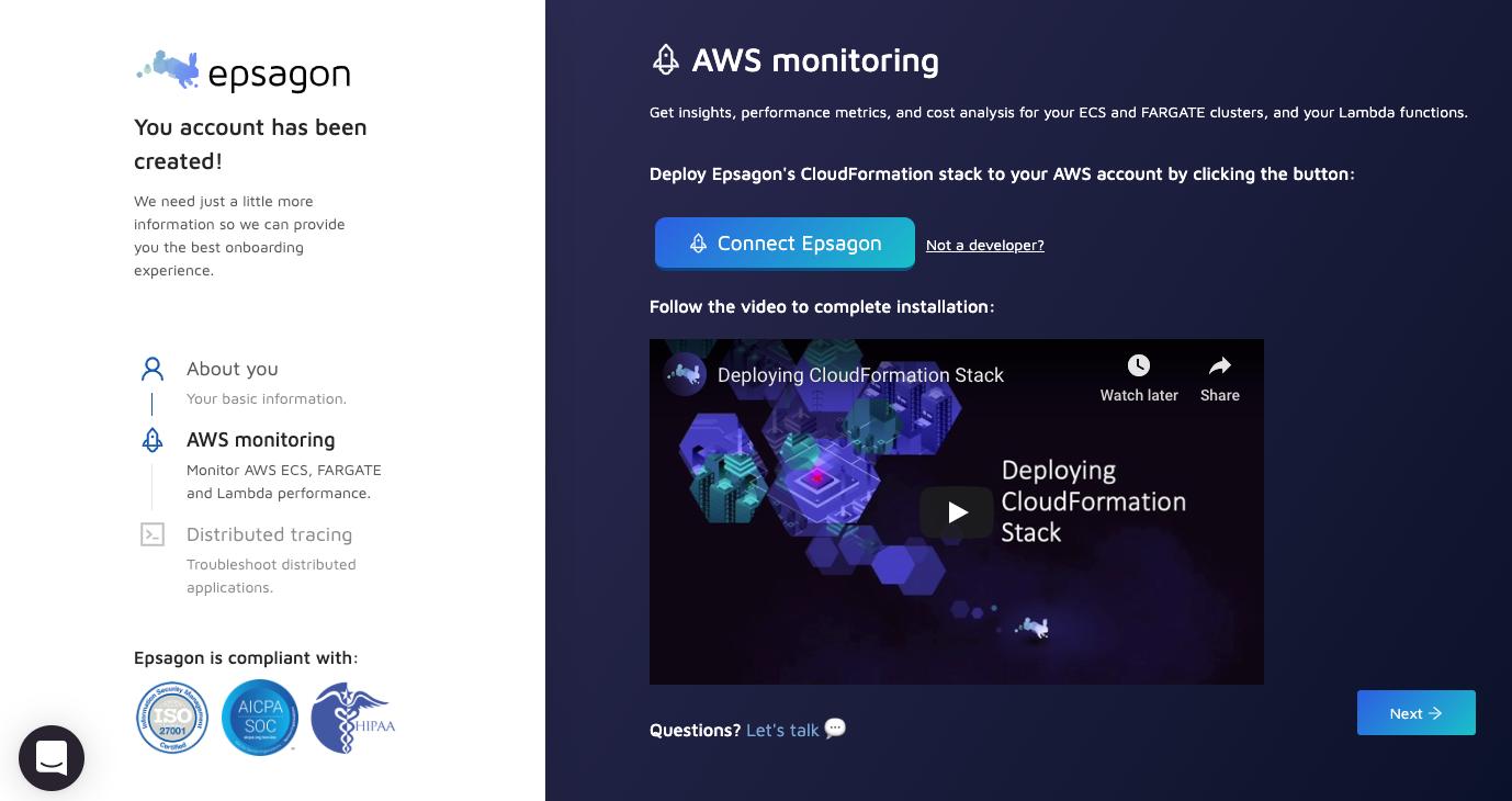 AWS ECS/Lambda Monitoring