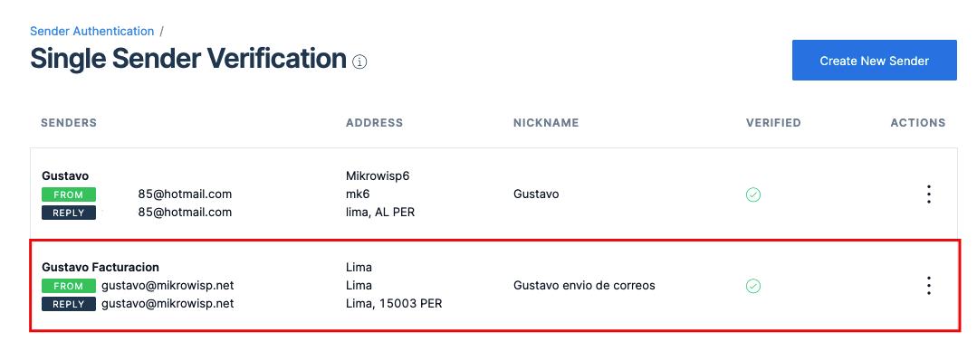 Este correo se usara como Remitente en Mikrowisp Ajustes > General