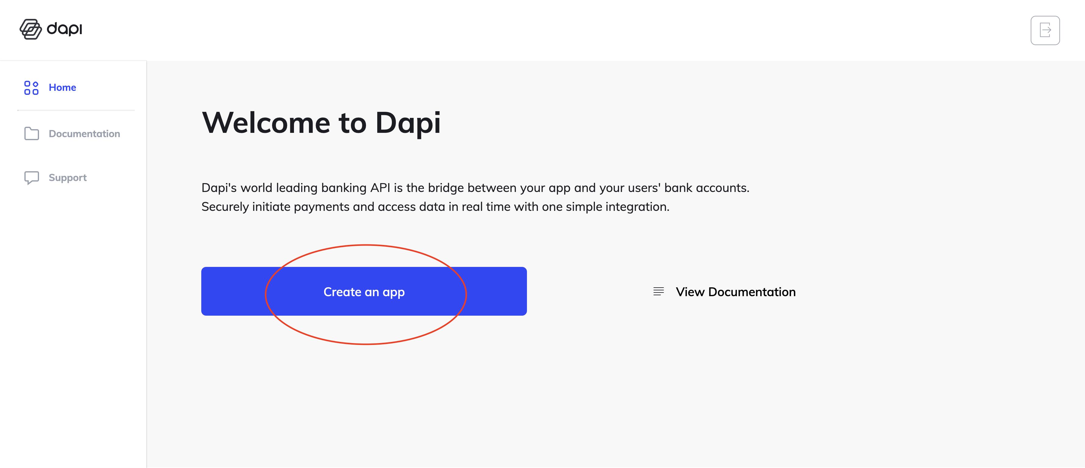 Dapi's Dashboard Screen