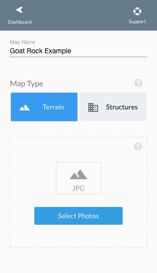 Terrain Upload option