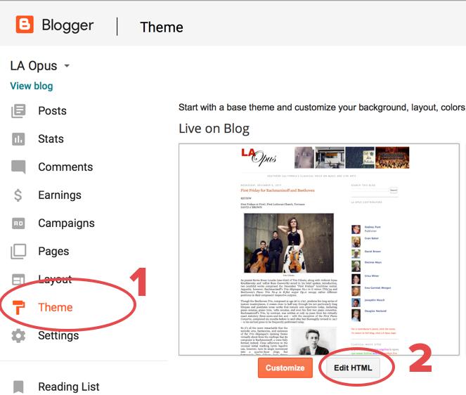 Blogger Setup