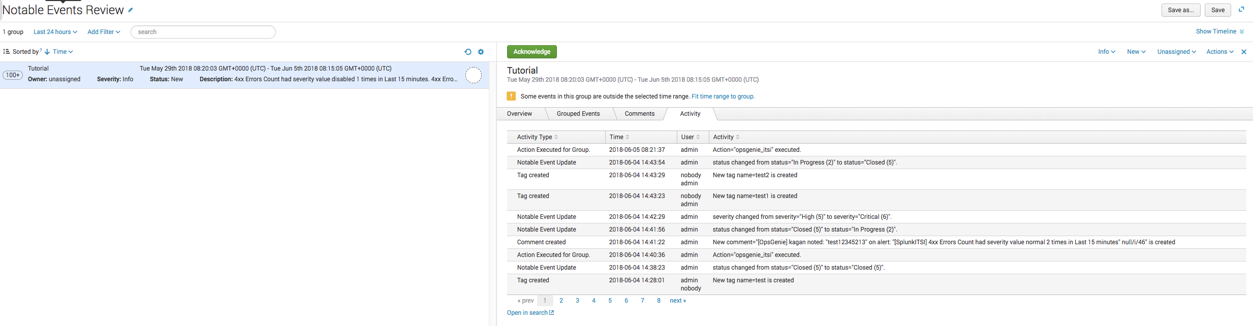 Splunk IT Service Intelligence Integration